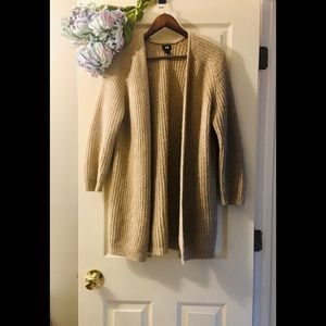 H&M Wool Knit Oversized Open Cardigan - Small (S)